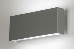 wall lamp 73153 sale designer modern aluminium metal grey concrete gray oblong rectangular