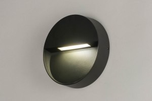 wall lamp 73163 modern aluminium metal dark gray round