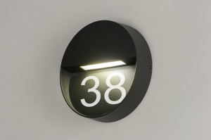 wall lamp 73163 sale modern aluminium metal dark gray round