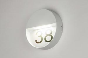wandlamp 73164 modern aluminium metaal wit mat rond