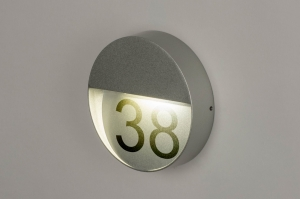wandlamp 73165 modern aluminium metaal zilvergrijs rond