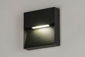 wandlamp 73166 modern aluminium metaal antraciet donkergrijs vierkant