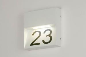 wandlamp 73167 modern aluminium metaal wit mat vierkant