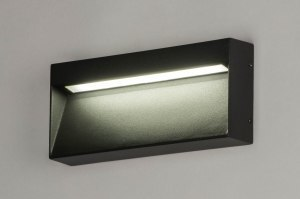 wall lamp 73169 designer modern aluminium metal dark gray rectangular