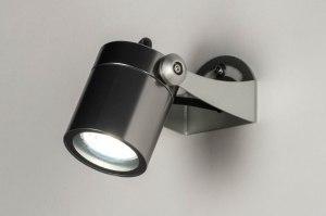 spot 73174 modern aluminium metaal aluminium rond