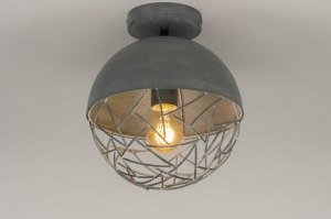 ceiling lamp 73178 modern raw retro metal grey concrete gray round