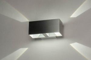 Aplique de pared 73213 Diseno Moderno Aluminio Aluminio Oblongo Rectangular