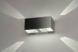 wandlamp 73213 design modern aluminium aluminium langwerpig rechthoekig