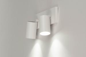 plafondlamp 73231 design modern aluminium metaal wit mat rond langwerpig rechthoekig
