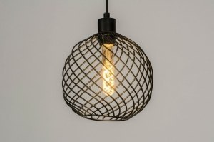 pendant light 73251 modern metal black matt round