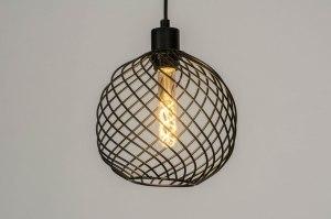 hanglamp 73251 modern metaal zwart mat rond