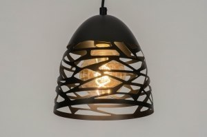 pendant light 73253 modern metal black matt dark gray round