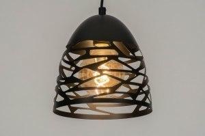 hanglamp 73253 modern metaal zwart mat antraciet donkergrijs rond