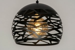 pendant light 73256 modern metal black matt dark gray round