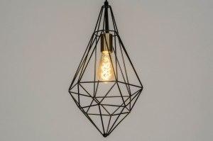 hanglamp 73265 modern messing geschuurd metaal zwart mat goud messing langwerpig