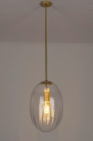 pendant light 73271 sale modern contemporary classical art deco glass clear glass metal gold matt brass