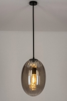 pendant light 73273 sale modern contemporary classical art deco glass clear glass metal black matt grey