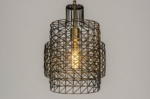 pendant light 73278 modern raw metal zinc grey matt brass oldmetal round