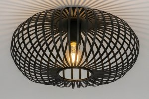ceiling lamp 73293 modern retro metal black matt round