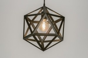 pendant light 73324 designer modern metal black matt