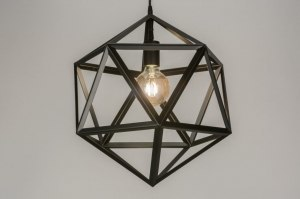 pendant light 73325 designer modern metal black