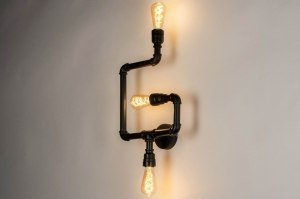 ceiling lamp 73326 industrial look modern raw metal black matt