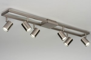 spotlight 73334 modern stainless steel aluminium metal steel gray oblong rectangular