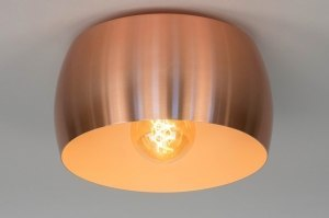 ceiling lamp 73345 designer modern aluminium metal pink copper red copper round