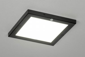 ceiling lamp 73353 modern plastic black matt square