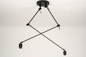 ceiling lamp 73358 modern metal black matt
