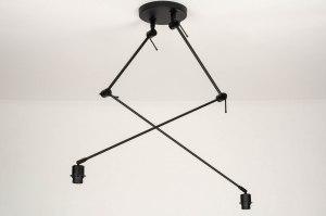 plafondlamp 73358 modern metaal zwart mat
