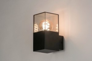 wall lamp 73372 sale modern aluminium plastic acrylate metal black matt brown rectangular