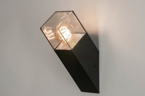 wall lamp 73373 modern aluminium plastic acrylate synthetic glass metal black matt brown oblong