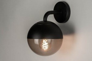 wall lamp 73375 modern aluminium plastic acrylate synthetic glass black brown