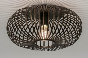 ceiling lamp 73404 rustic modern contemporary classical metal rusty brown brown round