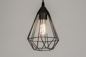 hanglamp 73407 modern metaal zwart mat