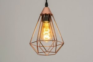 pendant light 73408 modern metal copper red copper
