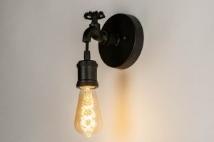 wall lamp 73415 rustic contemporary classical metal black matt