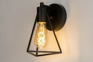 wall lamp 73417 industrial look modern metal black matt