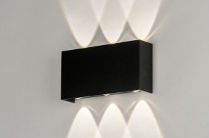 wall lamp 73420 modern aluminium metal black matt rectangular