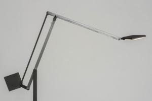 floor lamp 73429 designer modern aluminium metal dark gray aluminum square