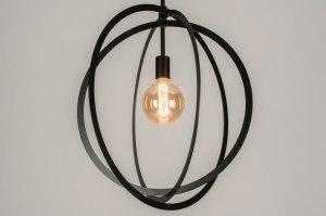 pendant light 73431 modern metal black matt round