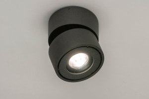 Spot 73446 Design modern Aluminium anthrazit rund