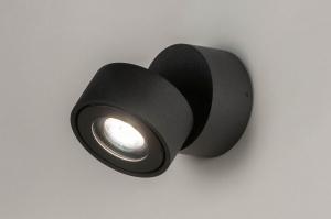 spot 73446 design moderne aluminium anthracite rond