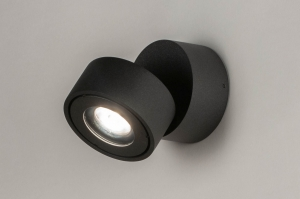 plafondlamp 73446 design modern aluminium antraciet donkergrijs rond