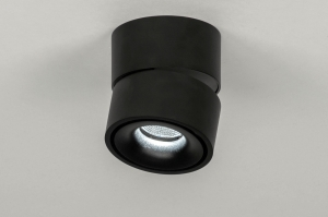 Foco 73447 Moderno Aluminio Metal Negro Mate Redonda