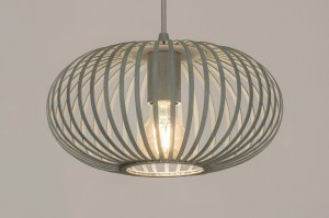 pendant light 73521 rustic modern metal grey concrete gray round