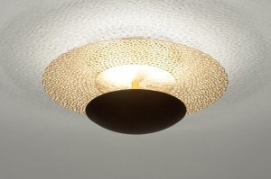ceiling lamp 73525 classical contemporary classical metal gold rust matt brass round