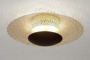 plafonnier 73526 classique classique contemporain acier or bronze brun rouille cuivre jaune mat rond