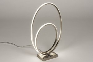 table lamp 73532 designer modern stainless steel metal steel gray oval